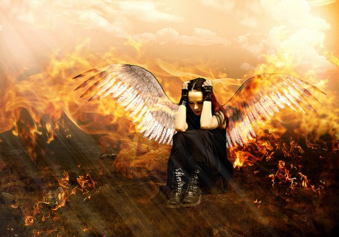 fallen angel - flickr by chiaralily